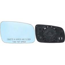 LUNA PARA ESPEJO ELECTRICO VOLKSWAGEN Jetta A4 4 puertas 98-08 convexo ORIGINAL con desempañador Azul DERECHO
