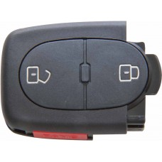 CARCASA AUDI 2 botones + Panico (lateral) Pila 1616 para control de alarma