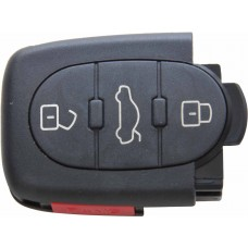 CARCASA AUDI 3 botones + Panico (lateral) Pila 2032 para control de alarma