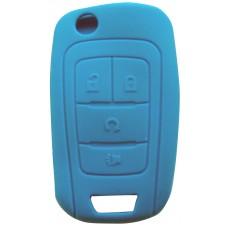 FUNDA DE SILICON PARA CONTROL CHEVROLET 4 Botones Color Azul