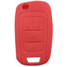 FUNDA DE SILICON PARA CONTROL CHEVROLET 4 Botones Color Rojo