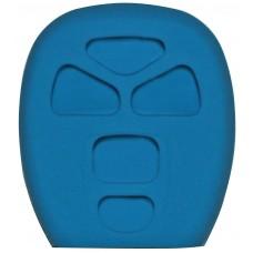 FUNDA DE SILICON PARA CONTROL CHEVROLET 5 botones Color Azul