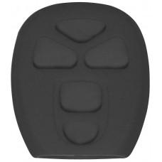 FUNDA DE SILICON PARA CONTROL CHEVROLET 5 botones Color Negro