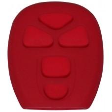 FUNDA DE SILICON PARA CONTROL CHEVROLET 5 botones Color Rojo