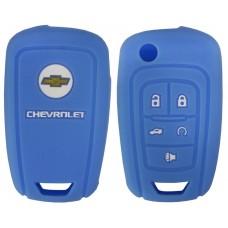 FUNDA DE SILICON PARA CONTROL CHEVROLET Camaro 5 botones con logo color Azul