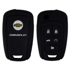 FUNDA DE SILICON PARA CONTROL CHEVROLET Camaro 5 botones con logo color Negro