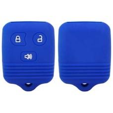 FUNDA DE SILICON PARA CONTROL FORD 3 botones Color Azul