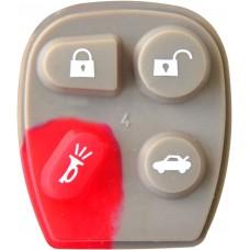 GOMA PARA CONTROL DE ALARMA CHEVROLET 4 botones (carbon chico)