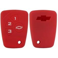 FUNDA DE SILICON PARA CONTROL CHEVROLET Chevy C2 * 4 Botones Color Rojo