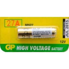 PILA PARA CONTROL de Alarma GP 27A Alcalina (5 pzas)