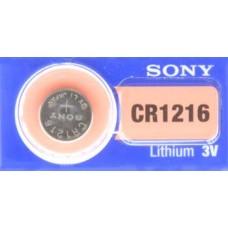 PILA PARA CONTROL de Alarma Sony 1216 3V (5 pzas)